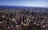 Aerial view over city center, Melbourne (click for enlargement)